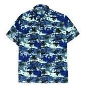 12 Units of Men's Hawaiian Navy Blue Shirt, S-2XL - Men's Work Shirts