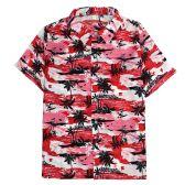 12 Units of Men's Hawaiian Red Shirt Plus Size, 2XL-4XL - Men's Work Shirts