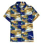 12 Units of Men's Hawaiian Mustard Shirt ,Size S-2Xl - Men's Work Shirts