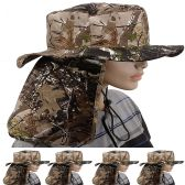 24 Units of MEN SUMMER HAT FOREST STYLE WITH BACK FLAPPER - Sun Hats