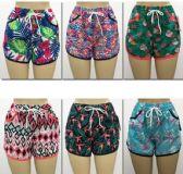 72 Units of Women's Assorted printed Swimming shorts - Womens Swimwear