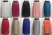 72 Units of Women's Pleated Solid Color Midi Skirt - Womens Skirts