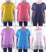 72 Units of Women's Butterfly Crochet Top - Womens Fashion Tops