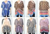 72 Units of Women's Assorted Printed Shawls - Womens Fashion Tops