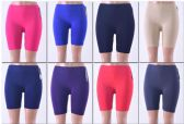 144 Units of Women's Seamless Biker Shorts - Womens Shorts