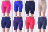 144 Units of Women's Seamless Biker Shorts , Black Color Only - Womens Shorts