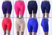 144 Units of Women's Seamless Biker Shorts Plus Size - Womens Shorts