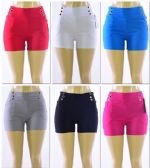 72 Units of Women's Millennium High Waist Shorts - Womens Shorts