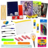 12 Units of 53 Piece Wholesale Kids School Supplies Kit - School Supply Kits
