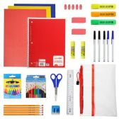 24 Units of 30 Piece Wholesale Kids School Supplies Kit - School Supply Kits