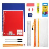 24 Units of 20 Piece Wholesale Kids School Supplies Kit - School Supply Kits