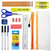 48 Units of 12 Piece Wholesale Kids School Supplies Kit - School Supply Kits