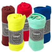 24 Units of Closeout Premium Fleece Throw Blankets - Fleece & Sherpa Blankets