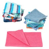 72 Units of Closeout Hand Towels in Assorted Colors and Patterns - Towels
