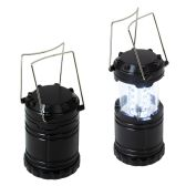 24 Units of Pull Up Led Lantern in Black - Lamps and Lanterns