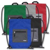 48 Units of Urban Sport 18 Inch Drawstring Bag - 5 Color - Draw String & Sling Packs