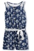 6 Units of Girls' Denim Romper in Size 5-6X - Girls Dresses and Romper Sets