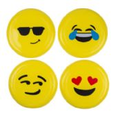 36 Units of Emoji Face Flying Disc - Summer Toys