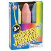 36 Units of 3 Piece Jumbo Sidewalk Chalk - Chalk,Chalkboards,Crayons