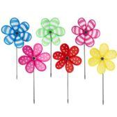 48 Units of Floral Pinwheels - Garden Decor