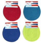 48 Units of 2 Piece Round Woven Trivet - Coasters & Trivets