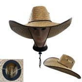 20 Units of Super Large Brim Straw Sun Hat [Vented] - Cowboy & Boonie Hat