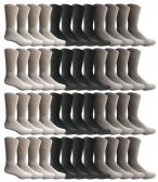 48 Units of SOCKS'NBULK Wholesale Crew Socks, Men Women Children, Cotton Basic Wear (48 Pack Mix, 10-13) - Mens Crew Socks