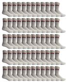 60 Units of Yacht & Smith Mens & Womens Wholesale Bulk Sports Crew, Athletic Case Pack Socks, by SOCKS'NBULK (60 Pairs White USA, Mens 10-13 (Shoe Size 7-12)) - Mens Crew Socks