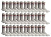 36 Units of Yacht & Smith Mens & Womens Wholesale Bulk Sports Crew, Athletic Case Pack Socks, by SOCKS'NBULK (36 Pairs White USA, Mens 10-13 (Shoe Size 7-12)) - Mens Crew Socks