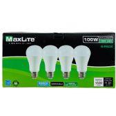 24 Units of Maxlite 4 Pack LED Bulb 15 Watt - Lightbulbs
