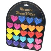 72 Units of Glass Magnet Heart with Display Board - Refrigerator Magnets