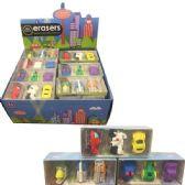 6 Units of Fun Take Apart Eraser Cars - Erasers