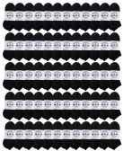 72 Units of SOCKS'NBULK Kids No Show Socks, Soft Sports Socks In Bulk Packs, (Size 6-8) (Black, 72) - Girls Ankle Sock