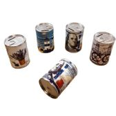 30 Units of Printed Tin Can Coin Bank - Coin Holders & Banks