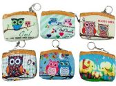 36 Units of Zippered Change Purse Owls - Wallets & Handbags
