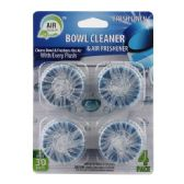 72 Units of Four Pack Air Fusion Toilet Bowl Cleaner And Freshener LInen - Cleaning Products