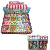 36 Units of Four Pack Fun Take Apart Erasers Food - Erasers