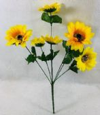 36 Units of 7 Head Small Sun Flower - Artificial Flowers