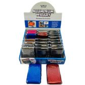 36 Units of Aluminum Wallet Solid Colors - Wallets & Handbags