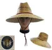20 Units of Large Brim Straw Sun Hat Open Weave - Sun Hats
