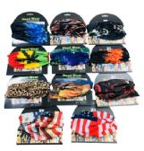 48 Units of MultiPurpose Head Buff Assortment - Bandanas