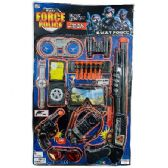 12 Units of Police Playset SWAT Force - Toy Weapons