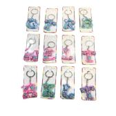 72 Units of Silicone Key Chain Initials - Key Chains