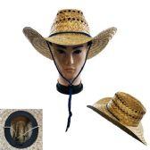40 Units of Straw Cowboy Hat Open Weave - Cowboy & Boonie Hat
