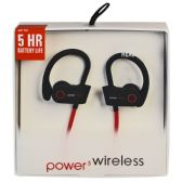 6 Units of POWER 3 WIRELESS BLACK AND RED - Headphones and Earbuds