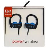 6 Units of POWER 3 WIRELESS BLACK AND BLUE - Headphones and Earbuds