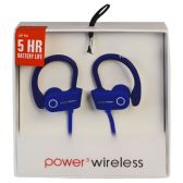 6 Units of POWER 3 WIRELESS BLUE - Headphones and Earbuds