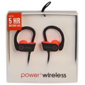 6 Units of POWER 3 WIRELESS BLACK AND PINK - Headphones and Earbuds