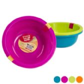 48 Units of Bowl 2pk 60-oz 9in Dia Plstc 4 Colors In Pdq #salad Bowl - Plastic Bowls and Plates