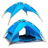 2 Units of CAMPING TENT LIGHT BLUE 3-4 PEOPLE - Camping Gear